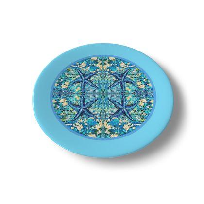 SEASTAR porzellanteller, blauer Rand