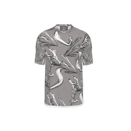 Men's T-Shirt. Silver Platinum