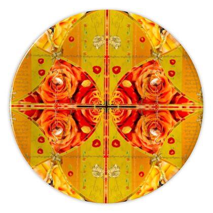 Rose & Yellow Künstler Designer Porzellan Teller