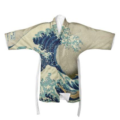 Kimono: Great Wave Off Kanagawa By Katsushika Hokusai