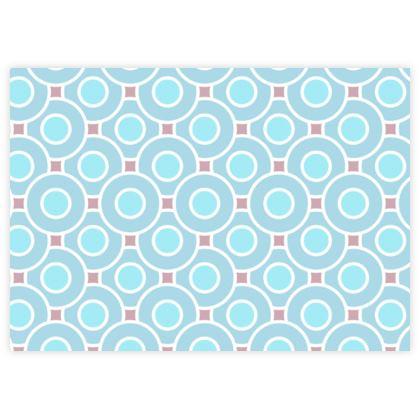 Blue tenderness - Fabric Sample Test Print - elegant gift, soft, refined, female, geometric, romantic, airy, fresh, sweet, aerial, guipure - design by Tiana Lofd
