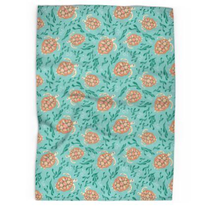 Sea Turtles Pattern Tea Towel