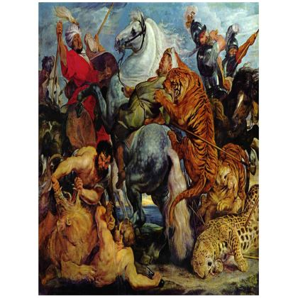 Tray: The Tiger Hunt By Peter Paul Rubens