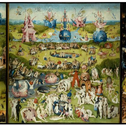 Suitcase: The Garden of Earthly Delights by Hieronymus Bosch (Detail)