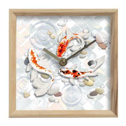 Wall Clock - 'Clear Water Koi' Theme, Artwork One