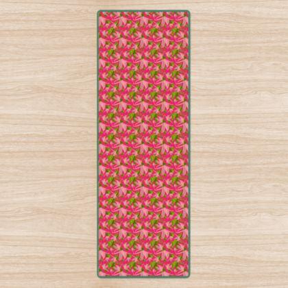 Yoga Mat, Pink, Green, Flowers  Alpina   Candyfloss