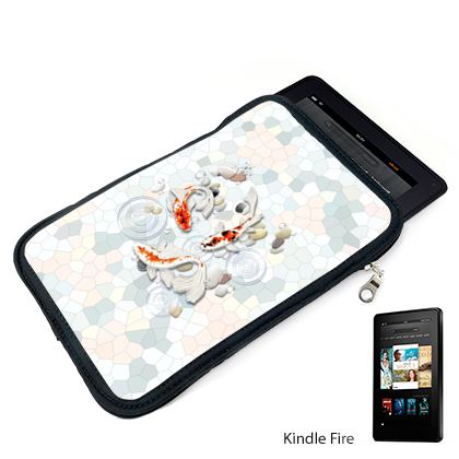 Kindle Case - Double Sided With 'Clear Water Koi' Theme Artwork
