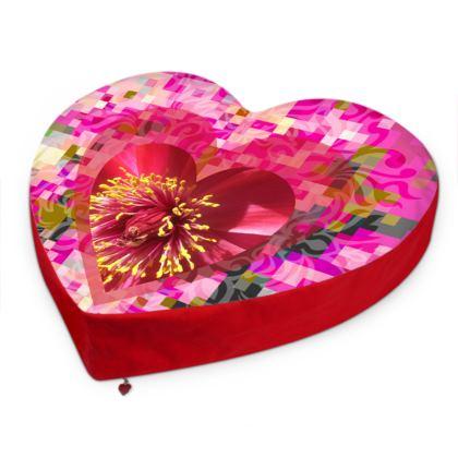 Camelia Big Heart Cushion