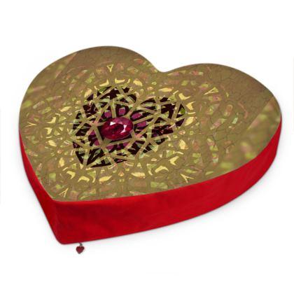 Ruby Big Heart Cushion