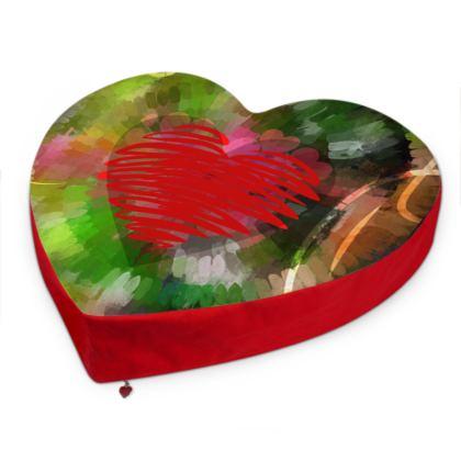Burst Big Heart Cushion