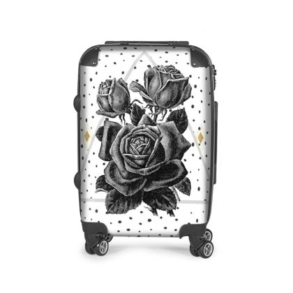 Black Rose and Pyramid Suitcase