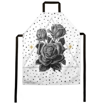 Black Rose and Pyramid Apron