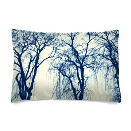 Blue Trees Pillow Case