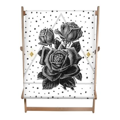 Black Rose and Pyramid Double Deckchair