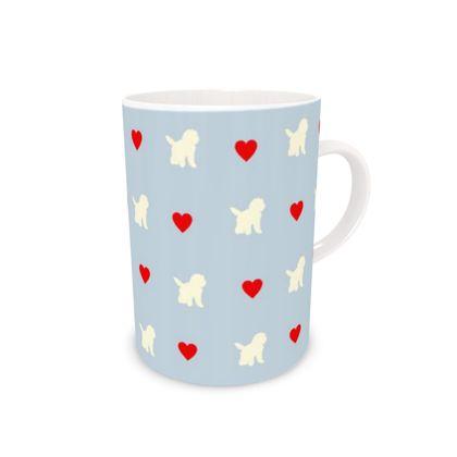 Bone China Mug valentines cream dog