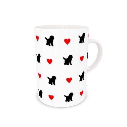 Bone China Mug valentines Black dog