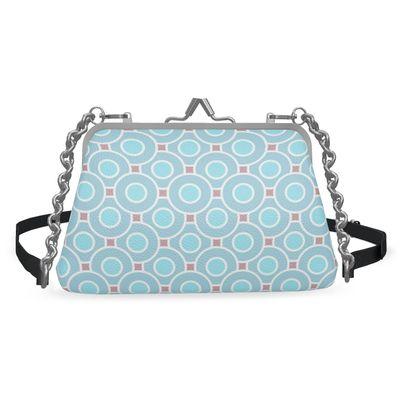 Blue tenderness - Flat Frame Bag - elegant gift, refined, female, romantic, sweet, soft
