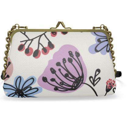 Wild flowers - Flat Frame Bag - floral, hand drawing, artistic, botanical, plants, summer gift