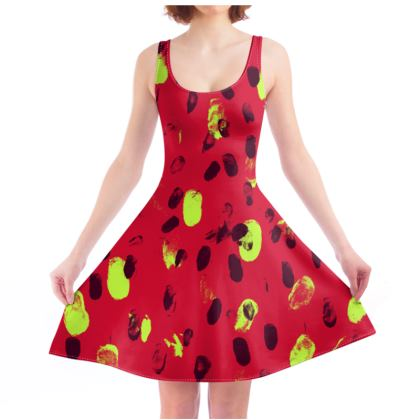 Skater Dress - Strawberry Dots
