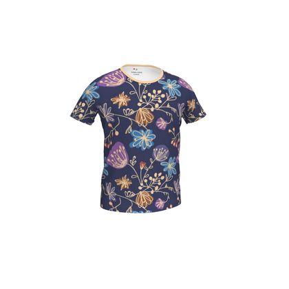 Night flowers - Girls Simple T-Shirt - design by Tiana Lofd