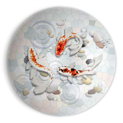 Ornamental Bowl - 'Clear Water Koi' Artwork One