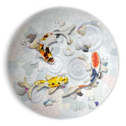 Ornamental Bowl - 'Clear Water Koi' Artwork Two