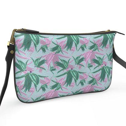 Pochette Double Zip Bag, Blue, Lilac   Alpina  Silent Stream