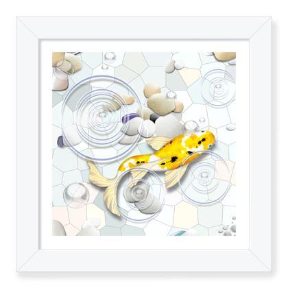 Framed Art Print E 'Clear Water Koi' theme