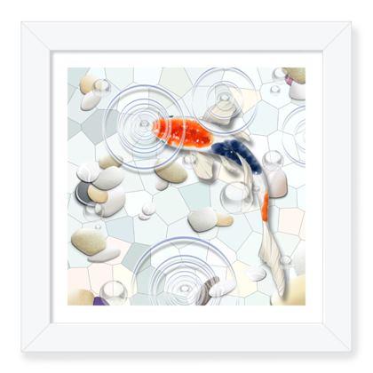 Framed Art Print F 'Clear Water Koi' theme