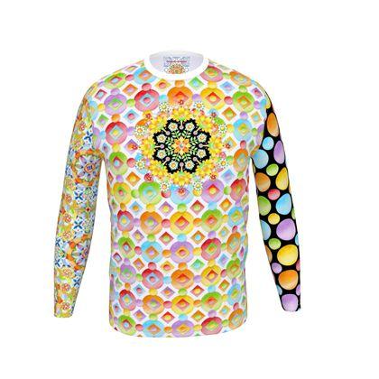 Festival Mandala Rainbow Long Sleeve Men's T Shirt