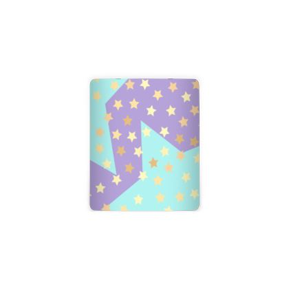 Luck Star - Money Pot - starry sky, lovely, soft, geometric, Turquoise, purple, lilac, gentle baby pattern nursery, kids stuff - designed by Tiana Lofd