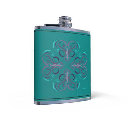 Cuatro (四) Shi Hip Flask