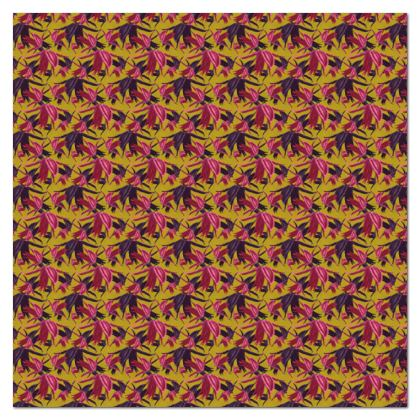 Tablecloth, Pink, Mustard, Botany  Alpina  Samurai