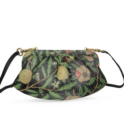 Small Pleated Soft Frame Bag - Fruit Pattern (1862) Remaster