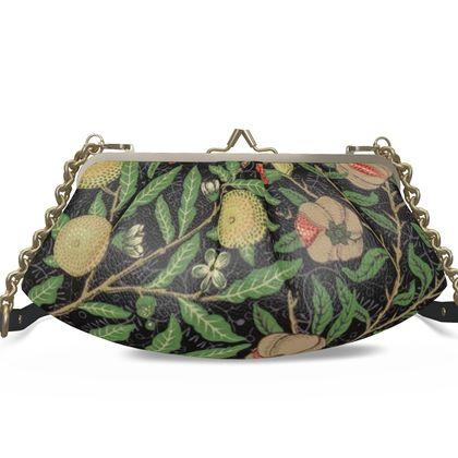 Large Pleated Frame Bag - Fruit Pattern (1862) Remaster