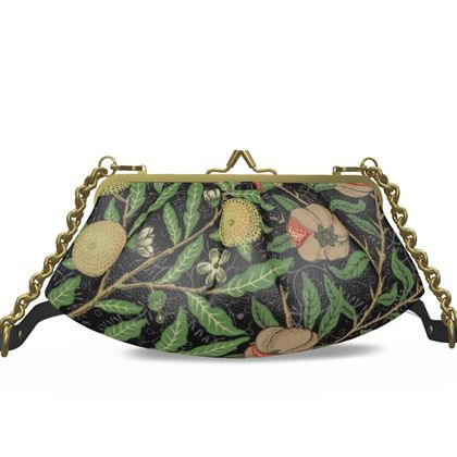 Small Pleated Frame Bag - Fruit Pattern (1862) Remaster