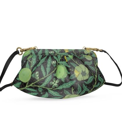 Small Pleated Soft Frame Bag - Fruit Pattern (1862) Remix