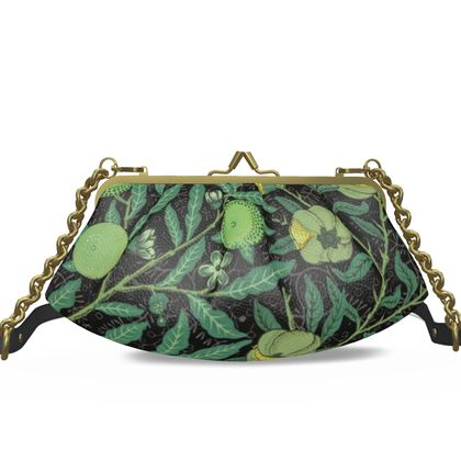 Small Pleated Frame Bag - Fruit Pattern (1862) Remix