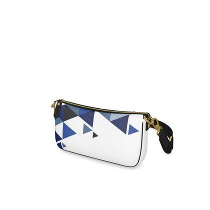 Baguette Bag - Geometric Triangles Blu