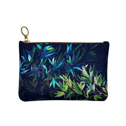 Leather Clutch Bag, Totally Tropical Design