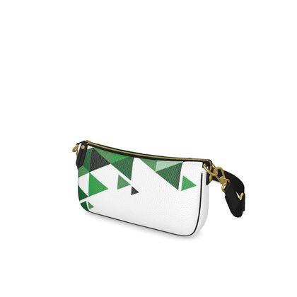 Baguette Bag - Geometric Triangles Green