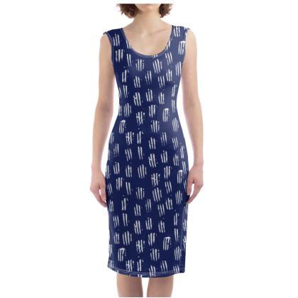 Make Your Mark Bodycon Dress in Denim Blue