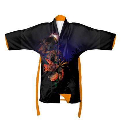 Midnight Lillies Kimono