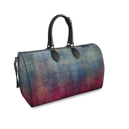 Scotch - Duffle bag - Scottish plaid, woolen, red and blue, bright, eye-catchy art, brush strokes, energetic, spectacular, punk, grunge, abstract, unique gift  - design by Tiana Lofd