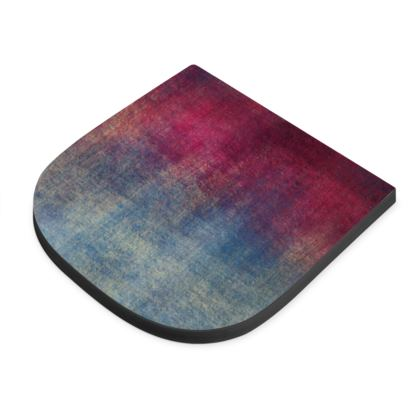 Scotch - Seat Pad - Scottish plaid, woolen, red and blue, bright, eye-catchy art, brush strokes, energetic, spectacular, punk, grunge, abstract, unique gift  - design by Tiana Lofd