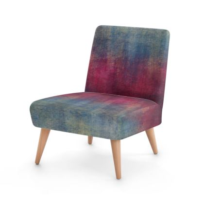 Scotch - Occasional Chair - Scottish plaid, woolen, red and blue, bright, eye-catchy art, brush strokes, energetic, spectacular, punk, grunge, abstract, unique gift  - design by Tiana Lofd