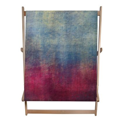 Scotch - Double Deckchair - Scottish plaid, woolen, red and blue, bright, eye-catchy art, brush strokes, energetic, spectacular, punk, grunge, abstract, unique gift  - design by Tiana Lofd