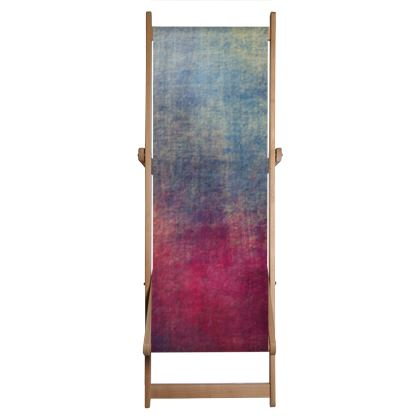 Scotch - Deckchair Sling - Scottish plaid, woolen, red and blue, bright, eye-catchy art, brush strokes, energetic, spectacular, punk, grunge, abstract, unique gift  - design by Tiana Lofd