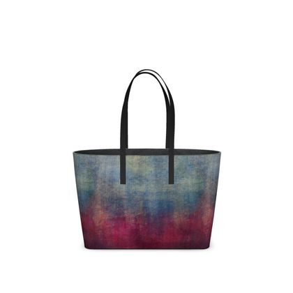 Scotch - Kika Tote - Scottish plaid, woolen, red and blue, bright, eye-catchy art, brush strokes, energetic, spectacular, punk, grunge, abstract, unique gift  - design by Tiana Lofd