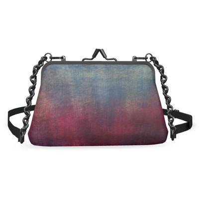 Scotch - Flat Frame Bag - Scottish plaid, woolen, red and blue, bright, eye-catchy art, brush strokes, energetic, spectacular, punk, grunge, abstract, unique gift  - design by Tiana Lofd